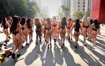 Οι υποψήφιες για τα καλύτερα οπίσθια ξεχύθηκαν στους δρόμους της Βραζιλίας