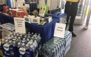 Αισχροκέρδεια στο Χιούστον, πουλούσαν πακέτα με νερά 35 ευρώ