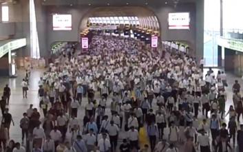 Το μετρό του Τόκιο σε ώρα αιχμής