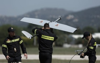 Πτήσεις στην Κεφαλονιά από το drone της πυροσβεστικής