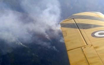 Σχεδόν 40 ώρες καταλυτικών πτήσεων συμπλήρωσαν στην Αλβανία ελληνικά πυροσβεστικά αεροπλάνα