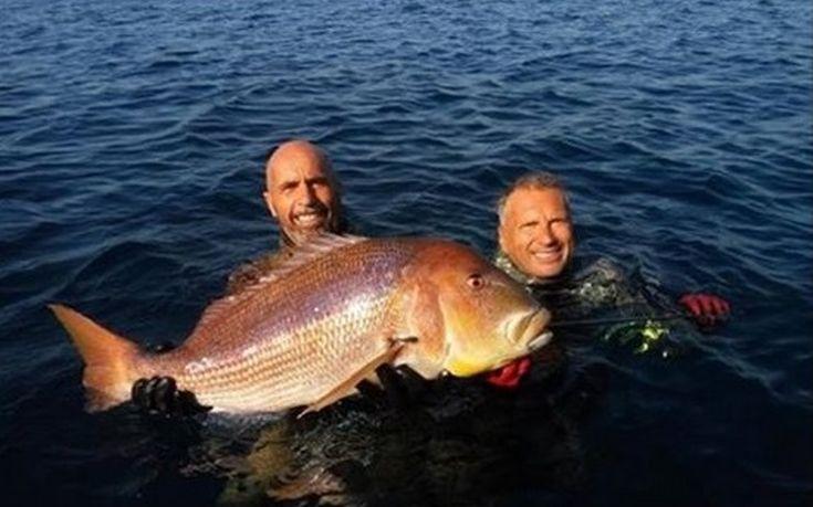 Ψαροντουφεκάς από τη Χίο έπιασε συναγρίδα 11 κιλών