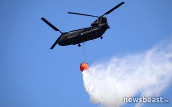 Φωτογραφίες από την πυρκαγιά στην Καισαριανή