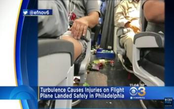 Εικόνες και μαρτυρίες μέσα από το αεροσκάφος που έπεσε σε αναταράξεις σε πτήση από Αθήνα προς ΗΠΑ