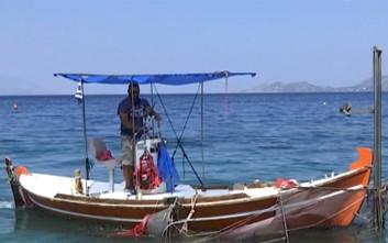 Ψαρεύουν μέδουσες με βάρκες και δίχτυα στον Κορινθιακό
