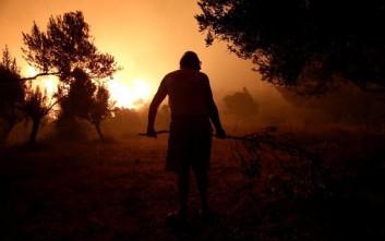Μία ακόμα νύχτα αγωνίας στα πύρινα μέτωπα της Κεφαλονιάς