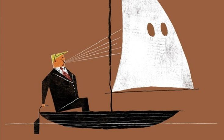 Ο Τραμπ φυσάει τα πανιά της Κου Κλουξ Κλαν στο εξώφυλλο του New Yorker