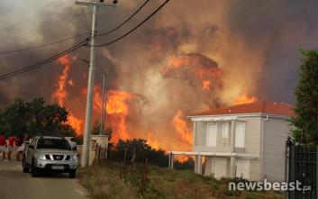 Οι φλόγες έφτασαν στα σπίτια στο Μετόχι