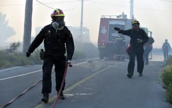 Σε εξέλιξη πυρκαγιά στο Σούνιο