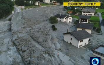 Δεκατέσσερις άνθρωποι αγνοούνται μετά την κατολίσθηση στην Ελβετία