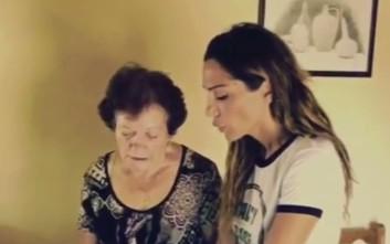 Η Δέσποινα Βανδή φτιάχνει λουκουμάδες με τη θεία της