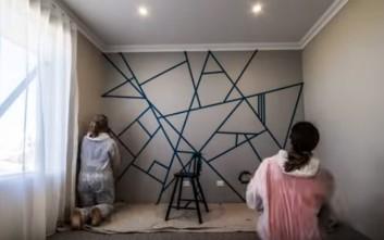 Ένας πρωτότυπος τρόπος για να βάψετε κάποιον τοίχο του σπιτιού σας