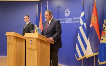 Καμμένος: Η Ελλάδα θα συνεχίσει να μάχεται για την είσοδο της Σερβίας στην Ε.Ε.