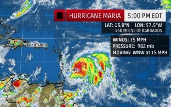 Η τροπική καταιγίδα Μαρία ενισχύθηκε σε κυκλώνα και οδεύει ολοταχώς για Καραϊβική