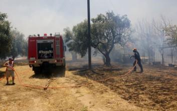 Κινδυνεύουν σπίτια από φωτιά στις παρυφές της πόλης της Ρόδου