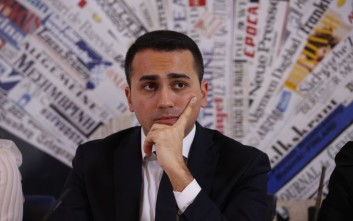 Italy's 5-Star Movement and Italian Low Chamber vice President Luigi Di Maio talks during a press conference at the Foreign Press Club in Rome, Thursday, March 23, 2017. The anti-establishment 5-Star Movement is riding the wave of populist sentiment sweeping through Europe and the U.S., aiming for early elections now that polls for the first time have placed it well ahead of the ruling but fractured Democratic Party. (AP Photo/Domenico Stinellis)