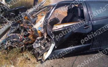 Δύο νεκροί και δύο τραυματίες στο δυστύχημα στη Μανωλάδα