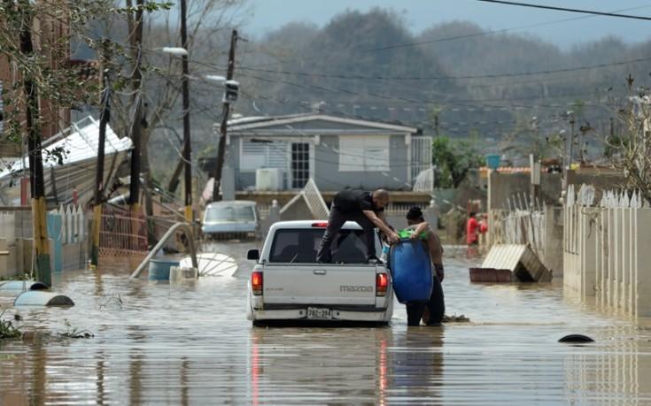 Κατέρρευσε φράγμα στο Πουέρτο Ρίκο από τον τυφώνα