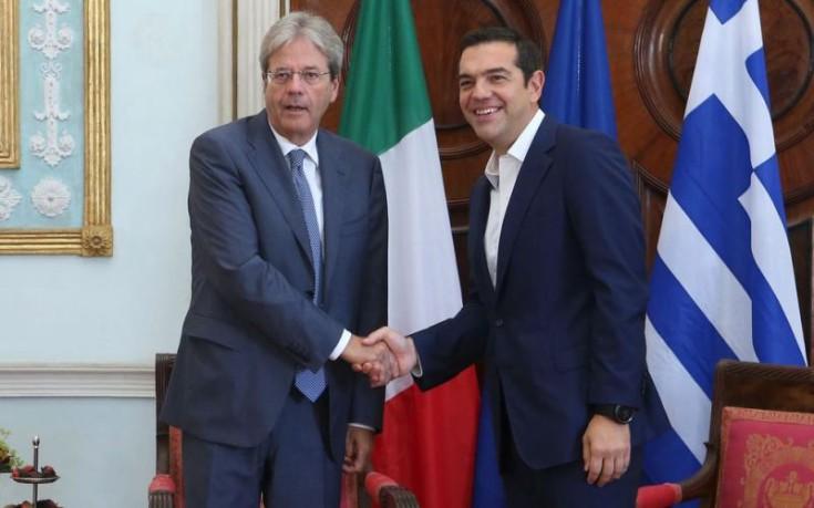 Συνάντηση Τσίπρα με τον Ιταλό πρωθυπουργό στην Κέρκυρα