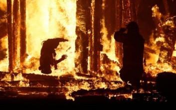 Άνδρας κάηκε ζωντανός σε φεστιβάλ στη Νεβάδα