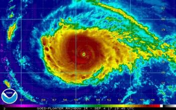 Στην κατηγορία 4 ενισχύθηκε ο τροπικός κυκλώνας Ίρμα