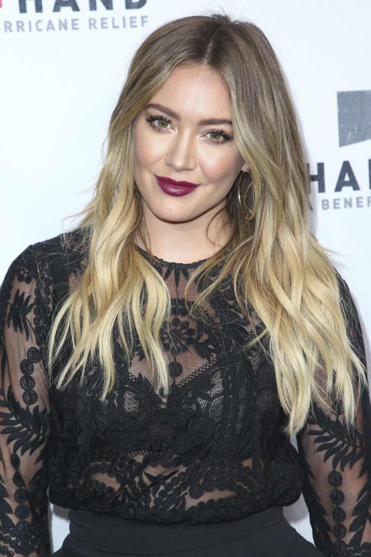 Hilary Duff attends the Hand in Hand: A Benefit for Hurricane Harvey Relief held at Universal Studios Back Lot on Tuesday, Sept. 12, 2017 in Universal City, Calif. (Photo by John Salangsang/Invision/AP)