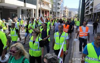 Έφτασαν στο κέντρο της Αθήνας οι μεταλλωρύχοι