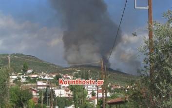 Καίει για τρίτη μέρα η φωτιά στη Νεμέα