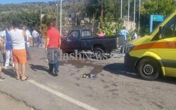 Νεκρός άνδρας που επέβαινε σε «γουρούνα» που συγκρούστηκε με αυτοκίνητο