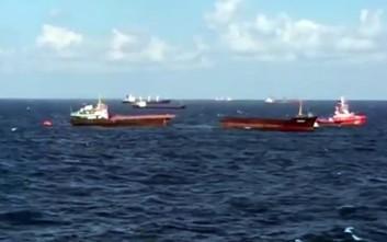 Πλοίο κόπηκε στη μέση στη Μαύρη Θάλασσα