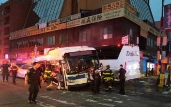 Τρεις νεκροί σε σύγκρουση λεωφορείων στη Νέα Υόρκη