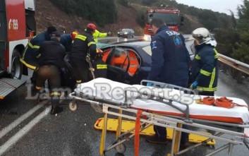 Τροχαίο με δυο τραυματίες στη Φθιώτιδα
