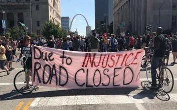 Ένταση στο Σεντ Λούις μετά την αθώωση αστυνομικού για τη δολοφονία αφροαμερικανού