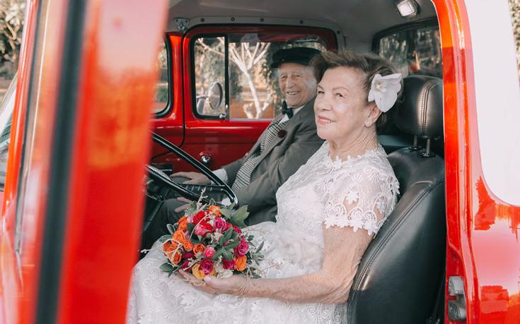 Αποτέλεσμα εικόνας για Φωτογραφίες γάμου 60 χρόνια μετά τον γάμο!