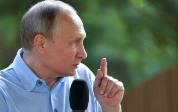 Russian President Vladimir Putin speaks while visiting the Artek children resort in Gurzuf, Crimea, Saturday, June 24, 2017. Putin says the most important principle for journalists is to avoid upsetting those featured in their articles and television broadcasts. (Alexei Druzhinin/Sputnik, Kremlin Pool Photo via AP)