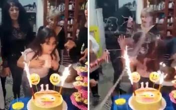 Κορίτσι στάθηκε μπροστά στη τούρτα γενεθλίων της και η κατάληξη ήταν… εκρηκτική