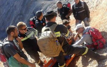 Γυναίκα τραυματίστηκε, κάνοντας πεζοπορία στην Κρήτη