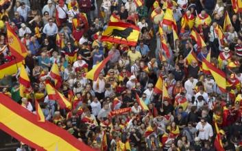 Διαδηλώσεις στην Ισπανία υπέρ της ενότητας της χώρας
