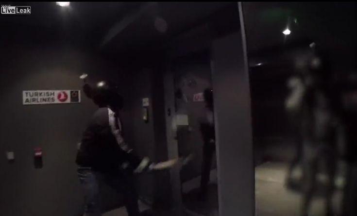 Βίντεο από την επίθεση του Ρουβίκωνα στην Turkish Airlines