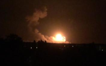 Μεγάλη πυρκαγιά σε αποθήκη πυρομαχικών στην Ουκρανία
