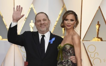 Harvey Weinstein, left, and Georgina Chapman arrive at the Oscars on Sunday, Feb. 26, 2017, at the Dolby Theatre in Los Angeles. (Photo by Jordan Strauss/Invision/AP)