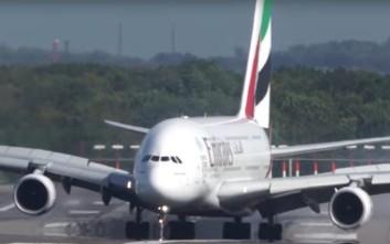 Τρομακτική προσγείωση για ένα Airbus A380 στο Ντίσελντορφ
