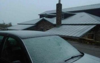 Έπεσαν τα πρώτα χιόνια στη Φλώρινα