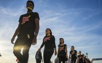 Πορεία κατά της εμπορίας ανθρώπων στη Θεσσαλονίκη