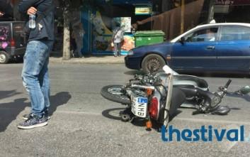 Τροχαίο με τραυματία στο κέντρο της Θεσσαλονίκης