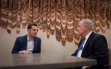 Συνάντηση Τσίπρα με τον Γερουσιαστή Ντικ Ντέρμπιν