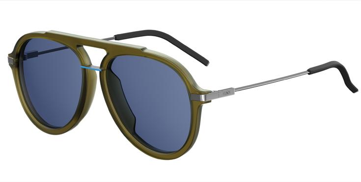 Τα γυαλιά ηλίου FENDI FANTASTIC διακρίνονται από μια ρετρό διάθεση της  δεκαετίας του 80 με σπορτίφ ύφος και υπερμεγέθεις φόρμες πιλότου 5a49ee18419
