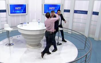 Έπεσαν μπουνιές σε ζωντανή εκπομπή στο Κόσοβο