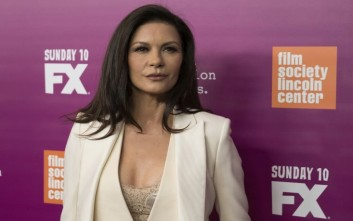 "Catherine Zeta-Jones attends a screening of FX's ""Feud: Bette and Joan"" at Alice Tully Hall on Tuesday, April 18, 2017, in New York. (Photo by Charles Sykes/Invision/AP)"