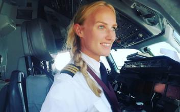 Η ξανθιά γαλανομάτα πιλότος που έγινε σταρ του Instagram
